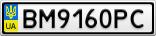 Номерной знак - BM9160PC