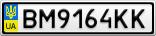 Номерной знак - BM9164KK