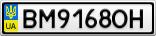 Номерной знак - BM9168OH