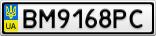 Номерной знак - BM9168PC