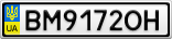 Номерной знак - BM9172OH