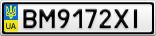 Номерной знак - BM9172XI