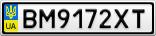 Номерной знак - BM9172XT