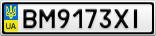 Номерной знак - BM9173XI