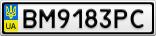 Номерной знак - BM9183PC