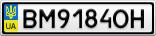 Номерной знак - BM9184OH