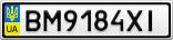 Номерной знак - BM9184XI