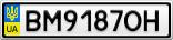 Номерной знак - BM9187OH