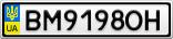 Номерной знак - BM9198OH