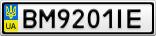 Номерной знак - BM9201IE