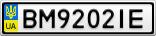 Номерной знак - BM9202IE