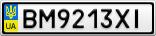 Номерной знак - BM9213XI