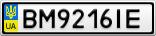 Номерной знак - BM9216IE