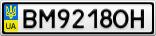 Номерной знак - BM9218OH