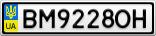 Номерной знак - BM9228OH