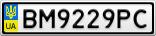 Номерной знак - BM9229PC