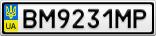 Номерной знак - BM9231MP