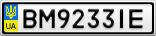 Номерной знак - BM9233IE