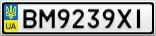 Номерной знак - BM9239XI