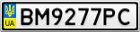 Номерной знак - BM9277PC