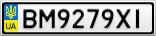 Номерной знак - BM9279XI