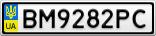 Номерной знак - BM9282PC