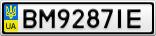 Номерной знак - BM9287IE