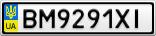 Номерной знак - BM9291XI