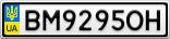 Номерной знак - BM9295OH