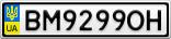Номерной знак - BM9299OH