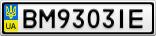 Номерной знак - BM9303IE