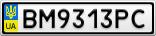 Номерной знак - BM9313PC
