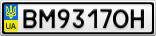Номерной знак - BM9317OH