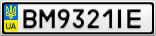 Номерной знак - BM9321IE