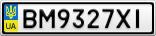 Номерной знак - BM9327XI