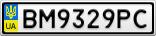 Номерной знак - BM9329PC