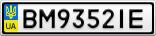 Номерной знак - BM9352IE