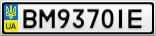 Номерной знак - BM9370IE