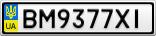 Номерной знак - BM9377XI