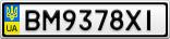 Номерной знак - BM9378XI