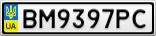 Номерной знак - BM9397PC