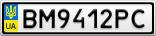 Номерной знак - BM9412PC