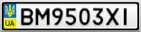 Номерной знак - BM9503XI