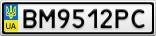 Номерной знак - BM9512PC