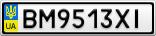 Номерной знак - BM9513XI