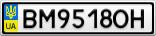 Номерной знак - BM9518OH