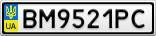 Номерной знак - BM9521PC