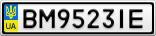 Номерной знак - BM9523IE