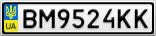 Номерной знак - BM9524KK