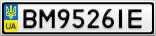 Номерной знак - BM9526IE